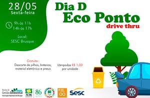 Núcleo de Gestão Ambiental realiza mais uma edição do Dia D Ecoponto