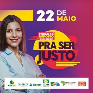 """Núcleo de Jovens Empreendedores realiza """"Feirão do Imposto""""."""