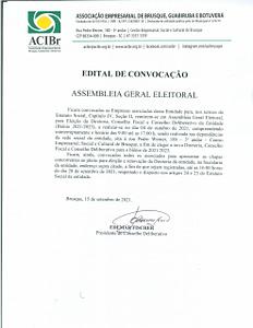 EDITAL DE CONVOCAÇÃO  ASSEMBLEIA GERAL ELEITORAL