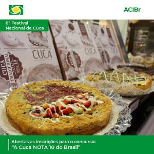 """Abertas as inscrições para o concurso: """"A Cuca NOTA 10 do Brasil"""""""